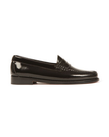 G H Bass & Co Womens Black Wheel Patent Penny Loafer