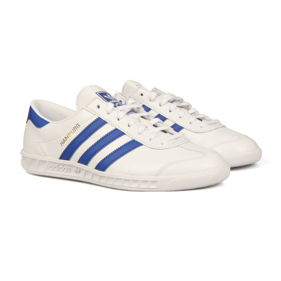 Adidas Originals Mens White Hamburg Trainer main image