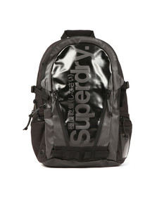 Superdry Mens Black Mono Tarp Back Pack