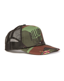 Billionaire Boys Club Mens Black Camo Arch Trucker Cap