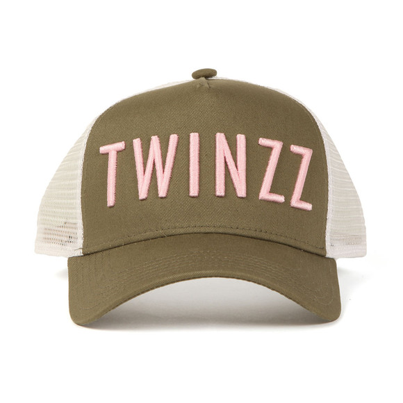 Twinzz Mens Green Mesh Trucker Cap main image
