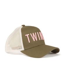 Twinzz Mens Green Mesh Trucker Cap