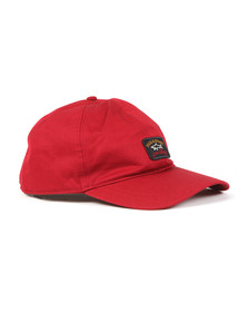 Paul & Shark Mens Red Woven Logo Cap