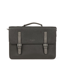 Ted Baker Mens Black Chase Crossgrain Satchel