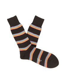 Paul Smith Mens Black Block Stripe Socks