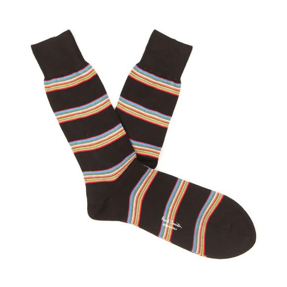 Paul Smith Mens Black Multi Block Stripe Socks