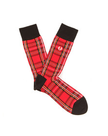 Fred Perry Mens Red Royal Stewart Socks
