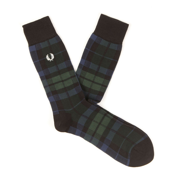 Fred Perry Mens Green Black Watch Socks main image