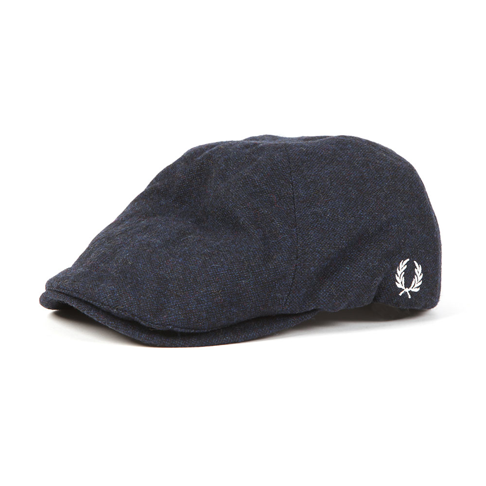 Fred Perry Boiled Wool Flat Cap  58bec4f6e9a
