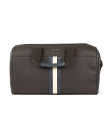 Ted Baker Mens Brown Webbing Holdall Bag