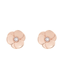 Ted Baker Womens Pink Preaa Pressed Flower Stud Earring