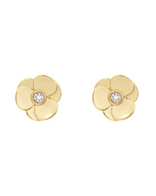 Ted Baker Womens Gold Preaa Pressed Flower Stud Earring