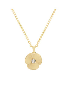 Ted Baker Womens Gold Primroz Pressed Flower Pendant