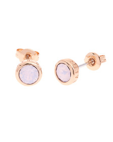 Ted Baker Womens Pink Water Opal/Rose Gold Sinaa Stud Earrings