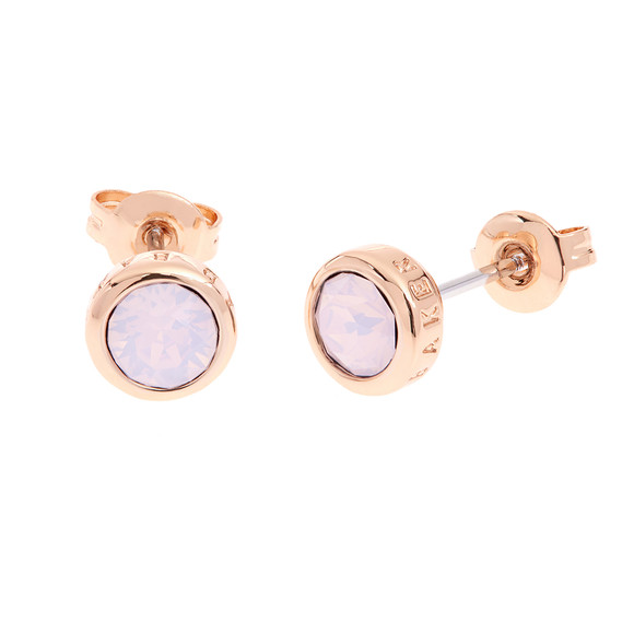Ted Baker Womens Pink Rose Gold Sinaa Stud Earrings main image