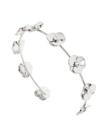 Ted Baker Womens Silver Parsia Pressed Flower Cuff
