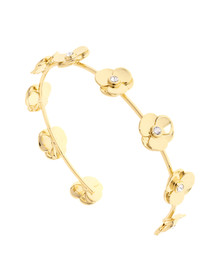 Ted Baker Womens Gold Parsia Pressed Flower Cuff