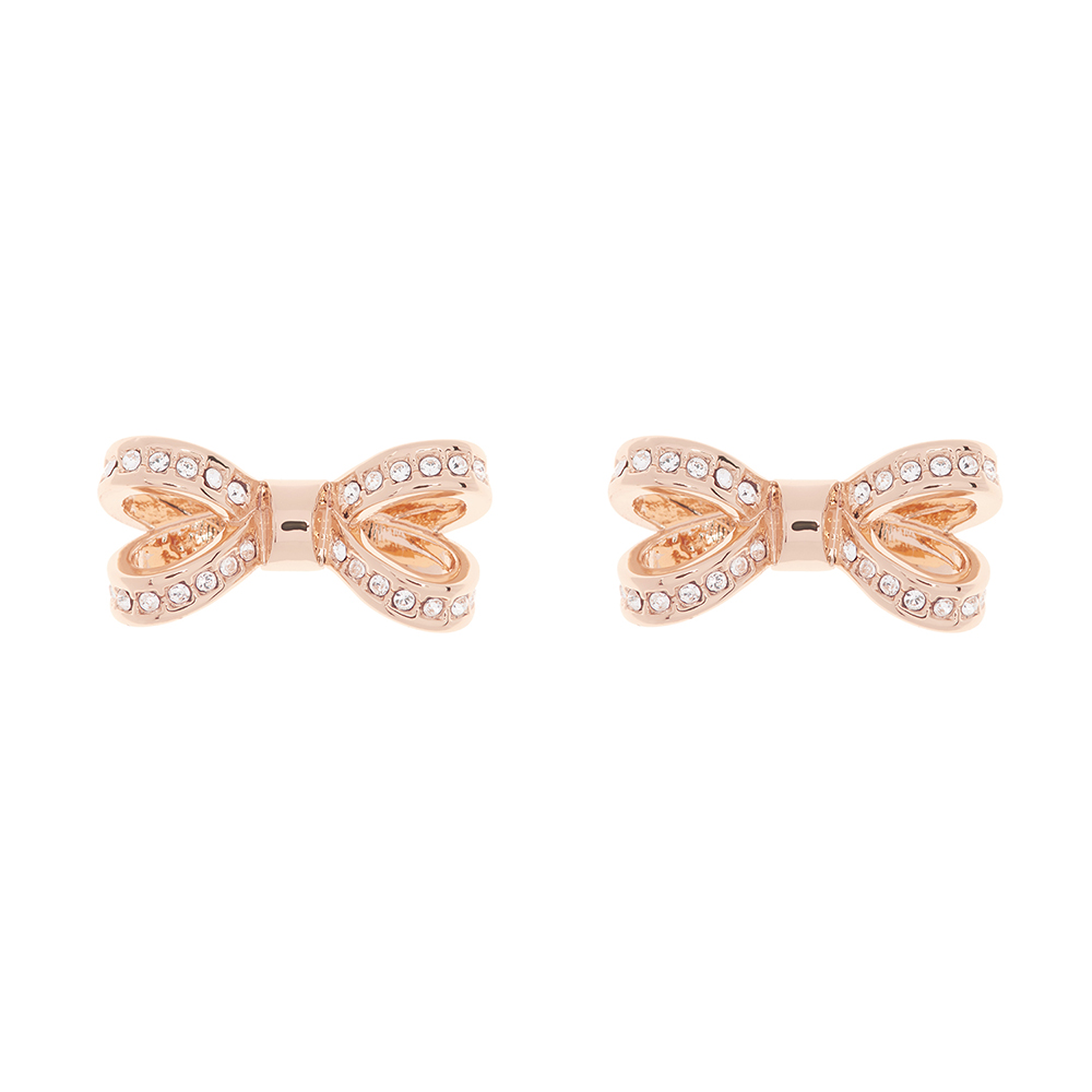 b8587a2f6 Ted Baker Rose Gold Olitta Mini Opulent Pave Bow Earring | Oxygen Clothing