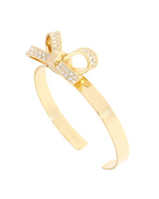 Ted Baker Womens Gold Olexaa Opulent Pave Bow Cuff