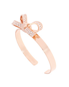 Ted Baker Womens Pink Olexaa Opulent Pave Bow Cuff