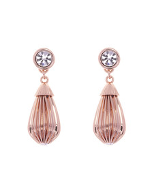 Ted Baker Womens Pink Parisi Mini Plisse Drop Earring