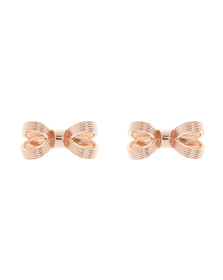 Ted Baker Womens Pink Olsi Mini Opulent Bow Earring