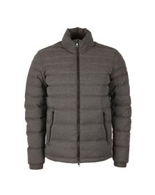 EA7 Emporio Armani Mens Grey Shield Badge Puffer Jacket