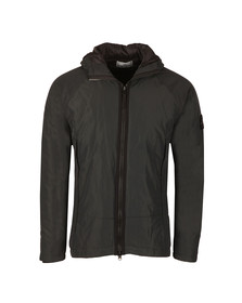 Stone Island Mens Black Hooded Micro Reps Jacket