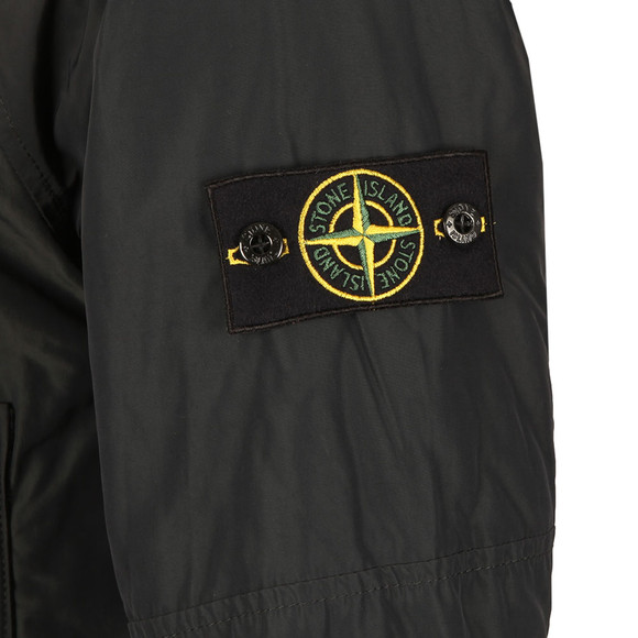 Stone Island Mens Black Hooded Micro Reps Jacket main image