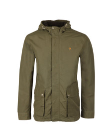 Farah Mens Green Lonsbury Zip Hooded Jacket