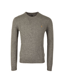 Farah Mens Grey Rosecroft Crew Jumper