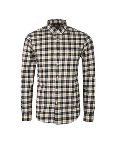 Farah Mens Blue L/S Coleville Check Shirt