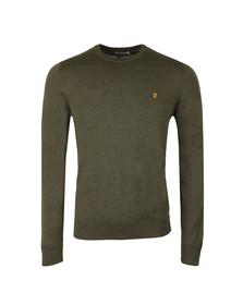 Farah Mens Green Mullen Wool Crew Jumper