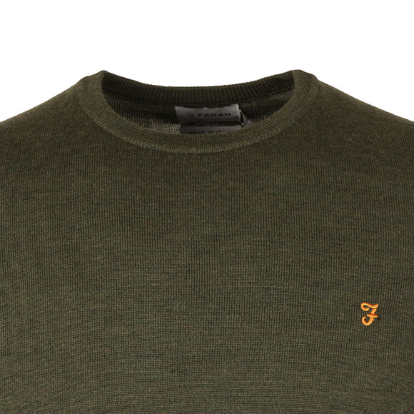 Farah Mens Green Mullen Wool Crew Jumper main image