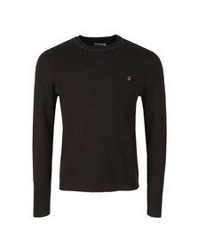 Farah Mens Black Orme Crew Neck Jumper