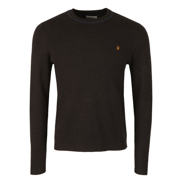 Farah Mens Grey Orme Crew Neck Jumper main image