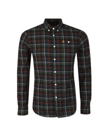 Farah Mens Blue L/S Oldman Check Shirt