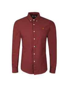 Farah Mens Red Brewer Oxford Shirt