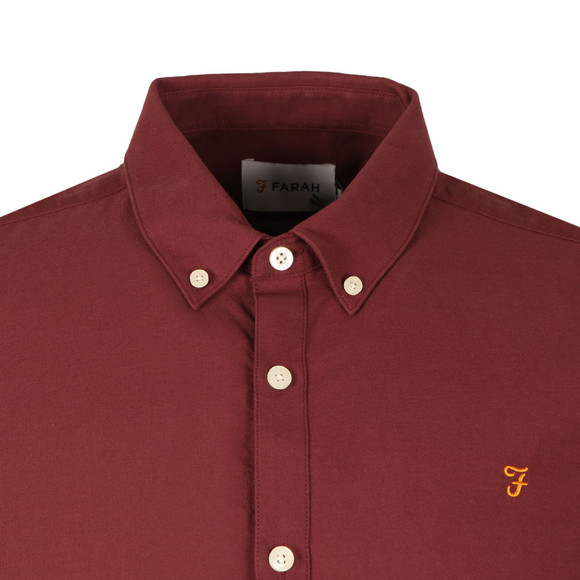 Farah Mens Red Brewer Oxford Shirt main image