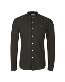 Farah Mens Black Brewer L/S Grandad Shirt