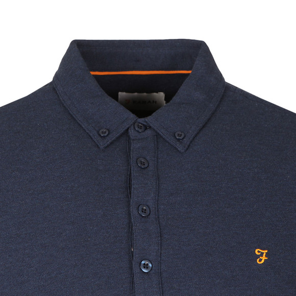 Farah Mens Blue Merriweather L/S Polo Shirt main image