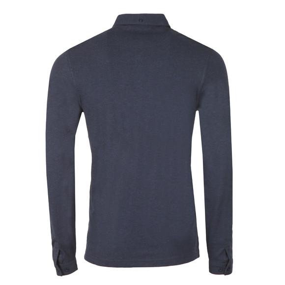 Farah Mens Blue Merriweather L/S Polo Shirt main image
