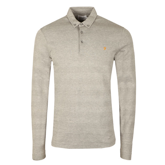 Farah Mens Grey Stapleton L/S Polo main image