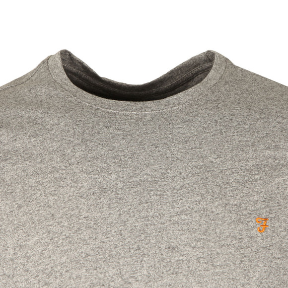 Farah Mens Grey Denny Crew T-Shirt main image