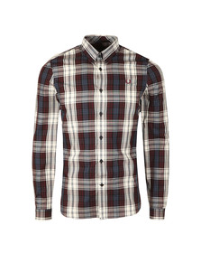 Fred Perry Mens Brown Bold Tartan LS Shirt