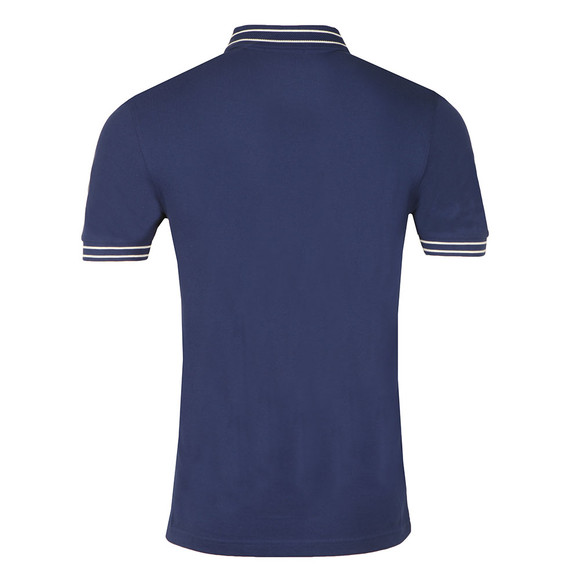 Fred Perry Mens Blue S/S Tramline Tipped Polo main image