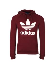 Adidas Originals Mens Red Trefoil Hoodie