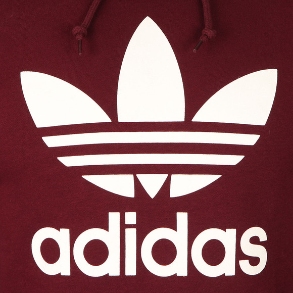 Adidas Originals Mens Red Trefoil Hoodie main image