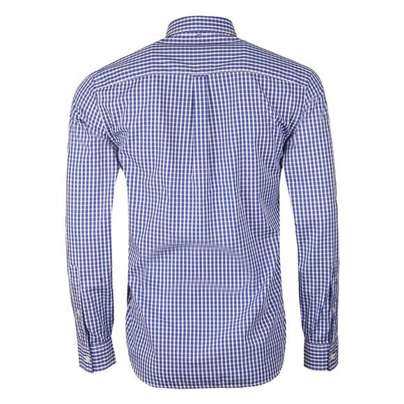 Pretty Green Mens Blue L/S Francis Gingham Shirt main image