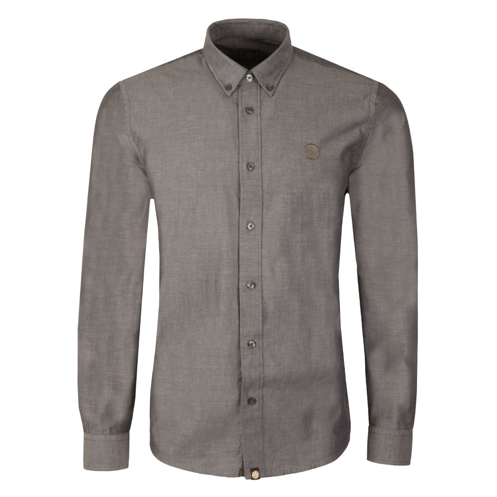13f3e965c662 Pretty Green L/S Sterling Oxford Shirt | Masdings